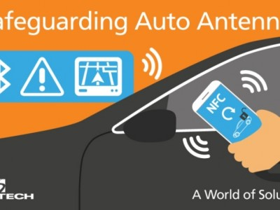 Dust-sized diode protects car antennas