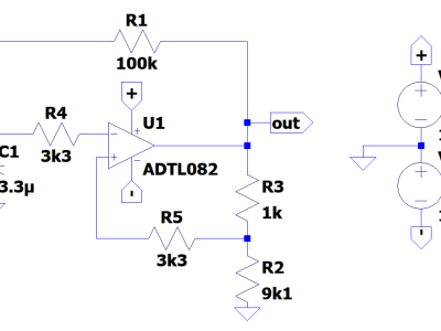 Single Opamp Voltage Controlled Oscillator