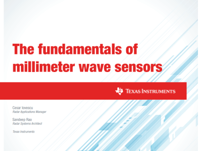 Free article: The Fundamentals of Millimetre-wave Sensors