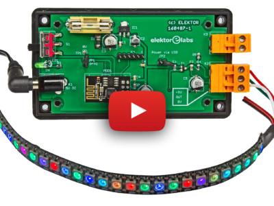 Control NeoPixel LED strips through an ESP8266 web server