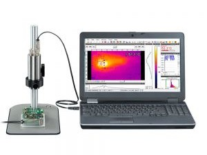 Cost-effective infrared camera with microscope optics
