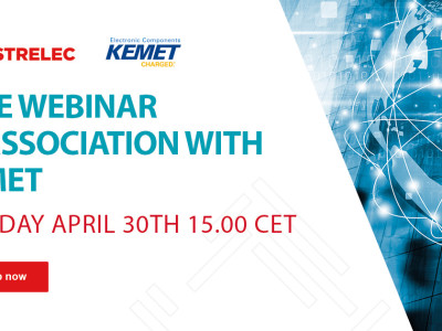 Distrelec collaborates with Kemet for second instalment of the Distrelec Webinar Series