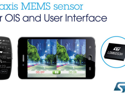 New 6-axis motion sensor from STMicroelectronics