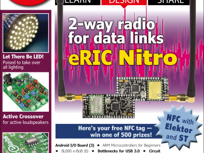 Elektor Magazine edition 1/2016 with free NFC card and prize raffle