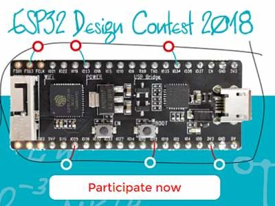 ESP32 Design Contest 2018 – only one week left!