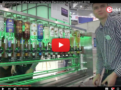 Robot Barman: Honorary Mention at the electronica Fast Forward contest