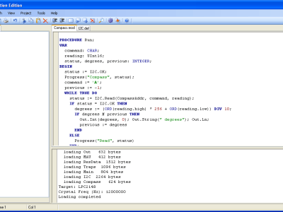 Screenshot of the IDE
