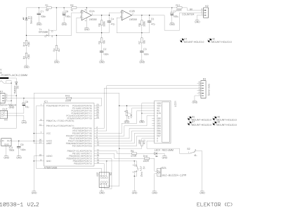 Schematic of Improved Radiation Meter 110538-1 v2.2