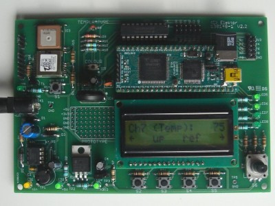 Board showing temperature (raw value)