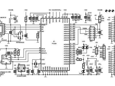 Schematic of the ECC Module for USB 130542-1 v1.0