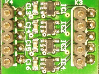Bottom view of PCB 140169-2 v2.0