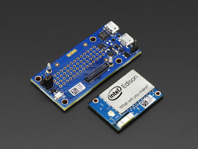 Intel Edison with break-out board (official picture).