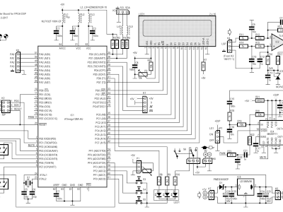 Schematic of Microcontroller Board for FPGA DSP Radio (160410-1 v1.1)