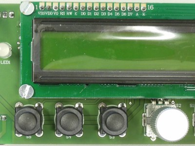 Top/Front view of Microcontroller Board for FPGA DSP (160410-1 v1.1)