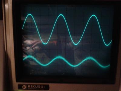 270 kHz sine wave