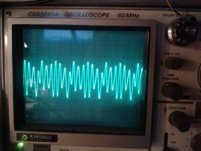 50 MHz sine wave