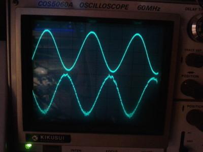 500 kHz sine wave