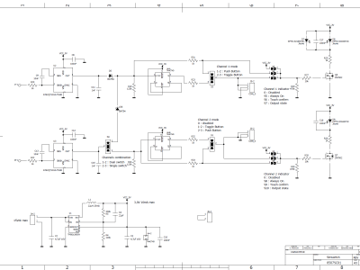 Schematics, capacitive and low level signals