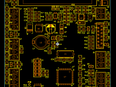 Main board parts placement