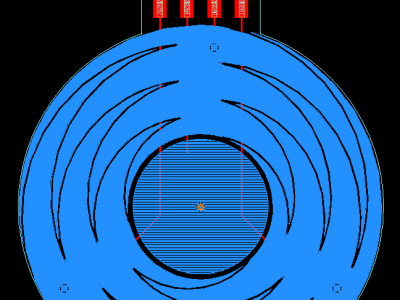 Capacitive sensing wheel
