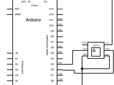 Arduino and Memsic 2125 Schematic