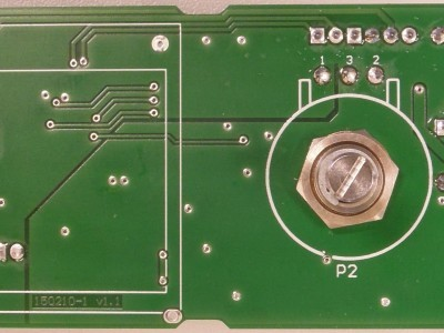 Bottom view of prototype (PCB 150210-1 v1.1)