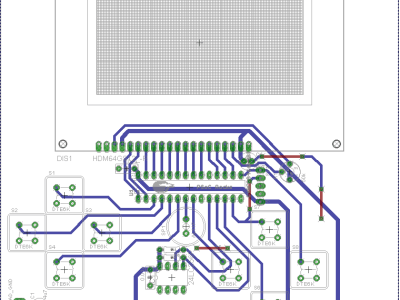 PCB of the Chip8 V1