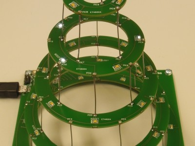 Circular christmas tree view 1