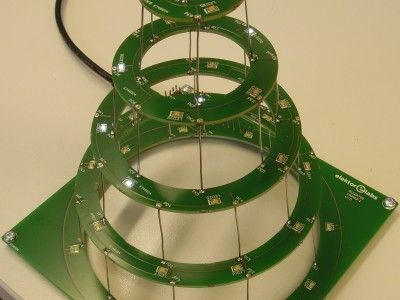 Circular christmas tree view 2
