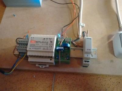 Detailaufnahme der Leiterplatte zur Strommessung