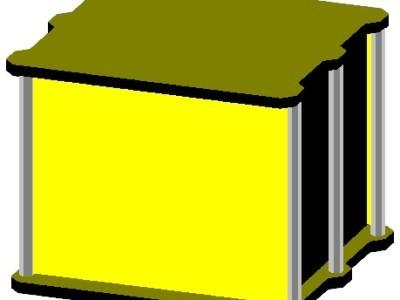 Bild 7: 3D Ansicht Zeichnung gehäuse