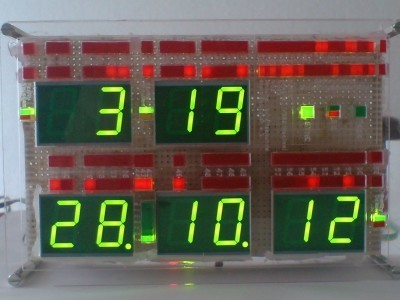 DCF Visualisation clock front