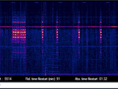 16-Hz-Bursts (wahrscheinlich Steuersignale / probably control pulses)