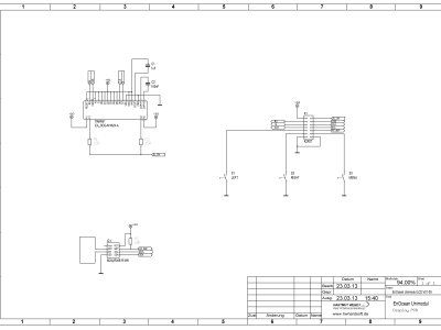 Schematics LCD board