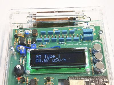 Prototype with an LND71217 tube instead of a SBM-20 tube