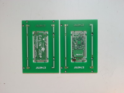First version of the PCB, top & bottom.