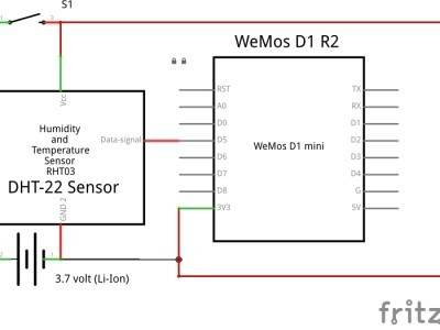 ESP8266 uploader - schematic view