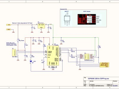 Schematic of ESPProg USB