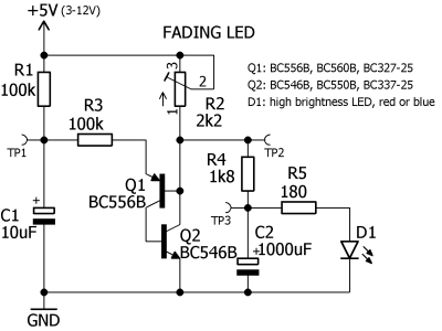 Simple Fading LED schematic