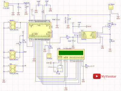 Schematic diagram of the battery capacity measurement device