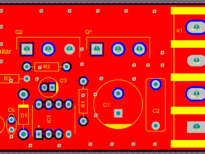Figure-2, Designed PCB layout for the motor driver schematic