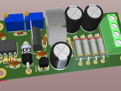 Figure-4  A 3D view of the assembled PCB board