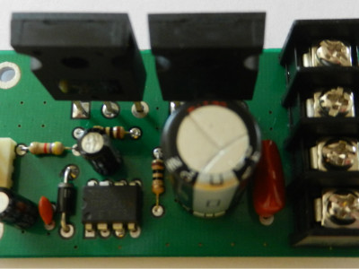Figure-5, The first prototype of the design (on a semi-homemade PCB), Top view