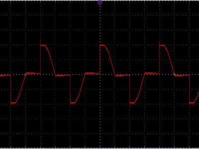 Figure-8, The output waveform in 50% of the power (dim = 5000)