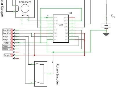 Stupendous Raspbery Pi Control A Stepper Motor With A Rotary Encoder Wiring Digital Resources Cettecompassionincorg