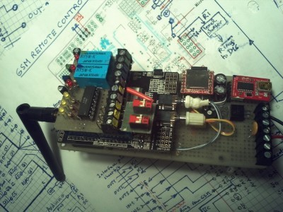 GSM assembly with I/O plate