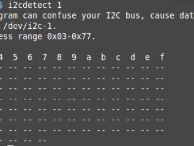 Ausgabe i2cdetect.