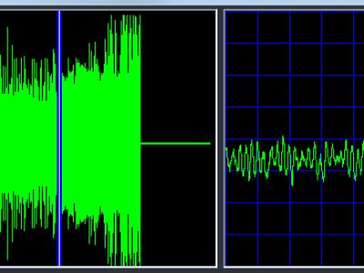 Bild 5: Übersichts-Zeitsignal und Zeitsignal im einstellbaren Zoom
