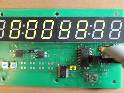 Digital readout with MAX 7219 for LEDs and MCP23017 for buttons.