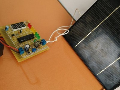 Test with solar panel and sensor connected